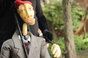 Vancouver Puppet Theatre performer Viktor Barkar during the Verse & Verve shoot